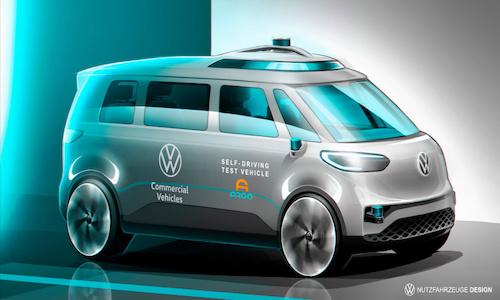 A Volkswagen commercial vehicle.